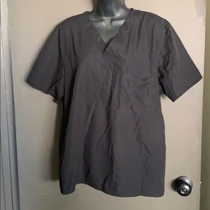 Tops - Size Small black scrub top with one pocket